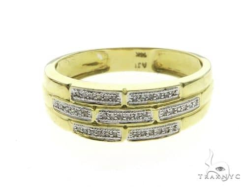 14K Yellow Gold Men\'s Diamond Ring 63667 Stone
