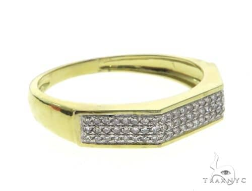 10K Yellow Gold Micro Pave Diamond Ring 63670 Stone