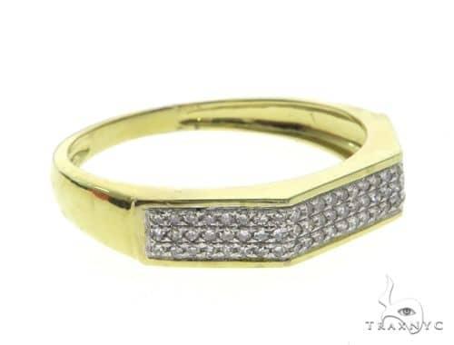 10K Yellow Gold Micro Pave Diamond Ring 63670 Stone
