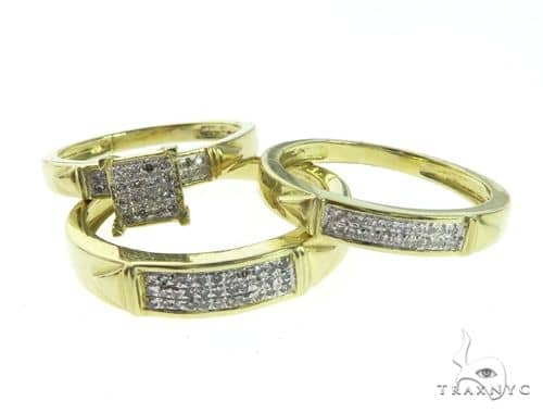14K Yellow Gold Diamond Ring Wedding Set 63671 Anniversary/Fashion