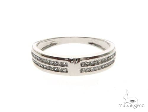 14K White Gold Micro Pave Diamond Ring 63672 Stone