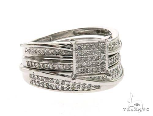 14K White Gold Elegant Diamond Wedding Set 63674 Anniversary/Fashion