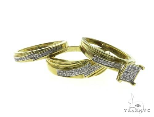 10K Yellow Gold Micro Pave Diamond Wedding set 63677 Anniversary/Fashion