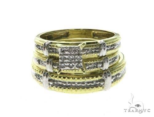 10K Yellow Gold Diamond Wedding Ring Set 63678 Wedding