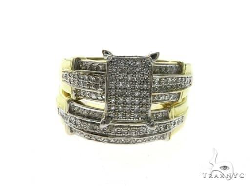 14K Yellow Gold Micro Pave Bridal Set 63679 Engagement