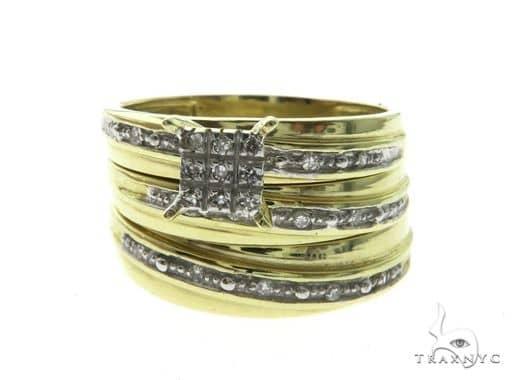 14K Yellow Gold Diamond Ring Wedding Set 63680 Engagement