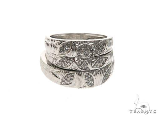10K White Gold Diamond Ring Wedding Set 63682 Engagement