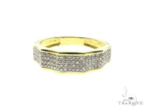 14K Yellow Gold Diamond Design Ring 63683 Stone