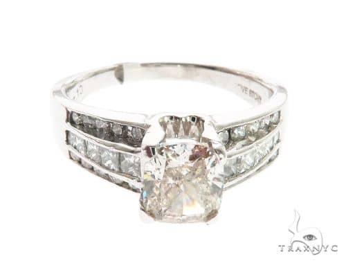 White Platinum Prong Diamond Ring 63718 Anniversary/Fashion