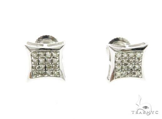 14K White Gold Micro Pave Diamond Stud Earrings 63740 10k, 14k, 18k Gold Earrings