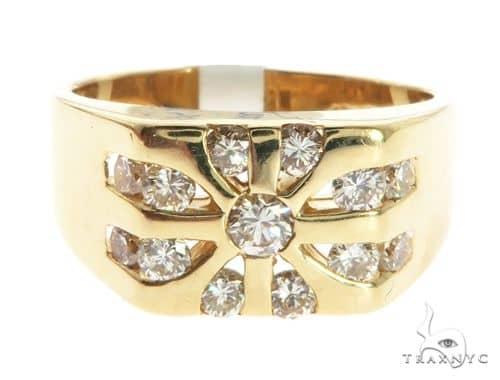 14K Yellow Gold Bezel Diamond Ring 63742 Stone