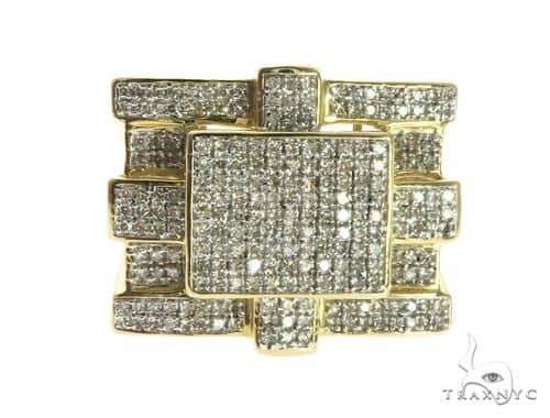 10K Yellow Gold Micro Pave Diamond Ring 63744 Stone