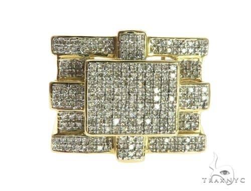 10K Yellow Gold Micro Pave Diamond Ring 63744 Stone