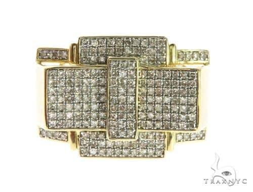10K Yellow Gold Micro Pave Diamond Ring 63745