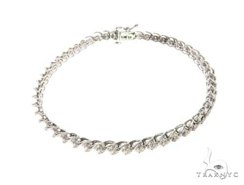 10K White Gold Bezel Diamond Bracelet 63746 Diamond