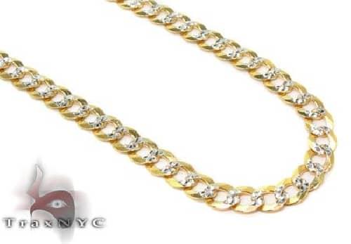Solid Cuban Curb Diamond Cut Link Chain 20 Inches 3.5mm 4.5 Grams 63755 Gold