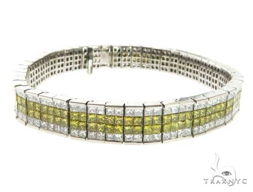 14K White Gold Dual Color Diamond Bracelet 63758 Diamond