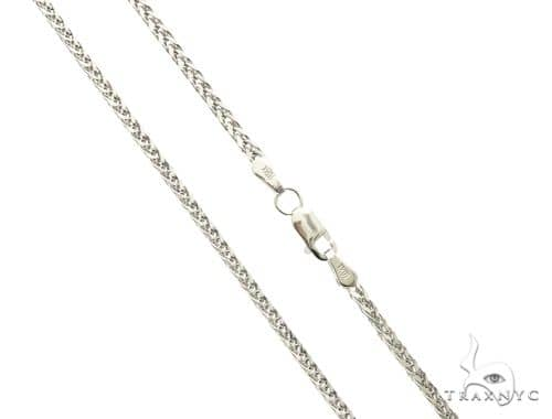 10K White Gold Hollow Wheat Chain 22 Inches 1.70MM  3.5 Grams 63768 Gold