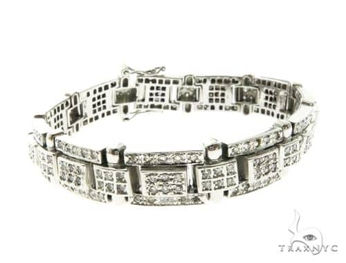 14K White Gold Prong Diamond Bracelet 63770 Diamond
