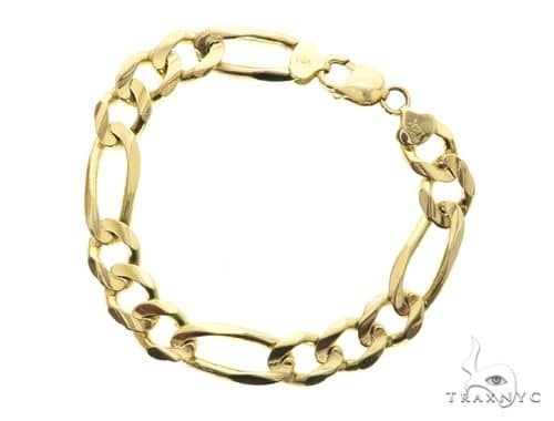 14K Yellow Gold Figaro Bracelet 63788 Gold