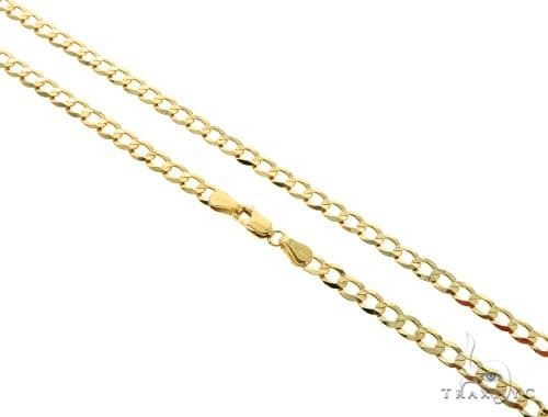 10KY Cuban Curb Link Chain 22 Inches 4mm 7.7 Grams 63790 Gold