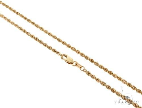 10KY Rope Link Chain 22 Inches 2.7mm 3.3 Grams 63799 Gold