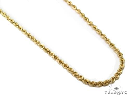 Rope Gold Chain 24 Inches 2.7mm 3.4 Grams 63800 Gold