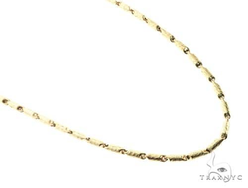 10K Yellow Gold 30 Inches 6MM Round Chain 63816 Gold