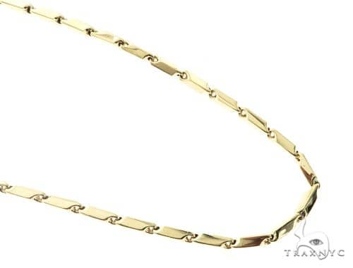 10K Yellow Gold 30 Inches 4MM Square Chain 63826 Gold