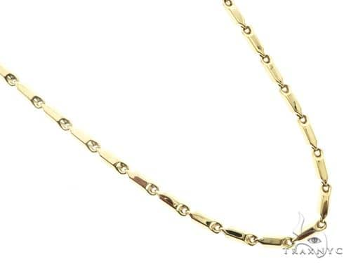 10K Yellow Gold 30 Inches 6MM Pencil Chain 63843 Gold