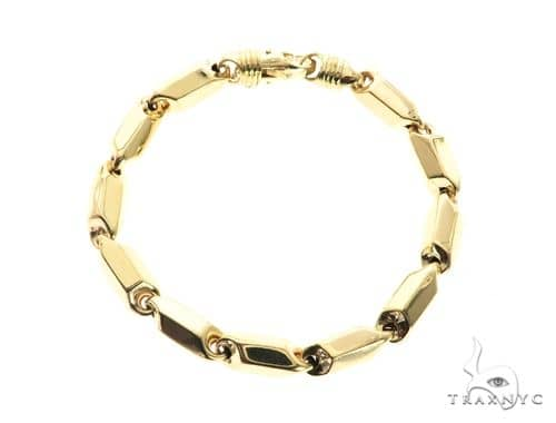 10K Yellow Gold 8MM Pencil Bracelet 63846 Gold