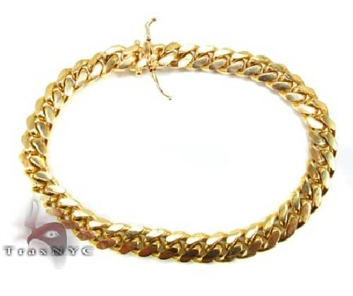14K Yellow Gold Miami Cuban Link Bracelet 9 Inches 8.5mm 46.10 Grams 63857 Gold