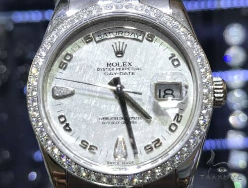 Rolex Day Date White Gold All Original Diamond Watch 63863 Diamond Rolex Watch Collection