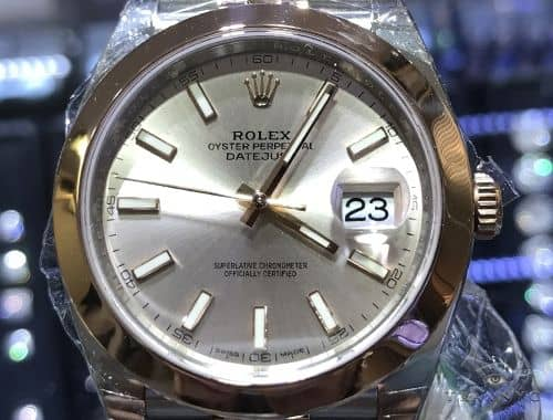41mm Date Just Rolex Watch Two Tone - Rose Gold 63871 Diamond Rolex Watch Collection