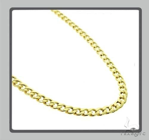 10K Hollow Miami Cuban Chain 24 Inches 6mm 22.8 Grams 63872 - has defect links Gold