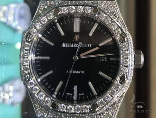 41mm Royal Oak Audemars Piguet Diamond Stainless Steel Watch 63891 Audemars Piguet Watches