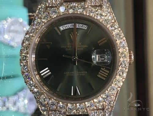 60th Anniversary 40mm 18K Rose Gold Full Diamond Rolex Watch 63900 Diamond Rolex Watch Collection
