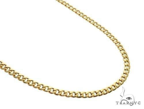 14k Yellow Gold Miami Cuban Link Chain 22 Inches 4.5mm 14.39 Grams 63934 Gold