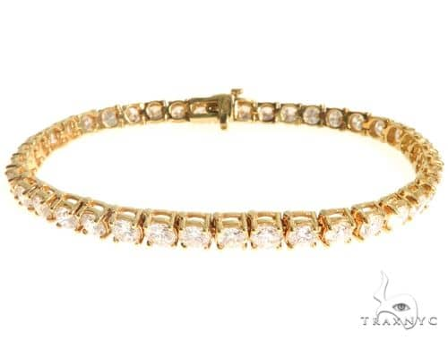 18K Yellow Gold Diamond Tennis Bracelet 63940 Diamond