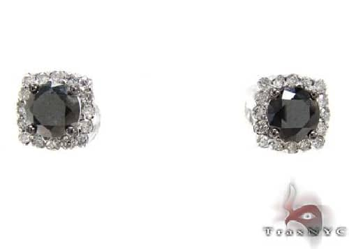 Ladies Prong Diamond Earrings 63942 Stone