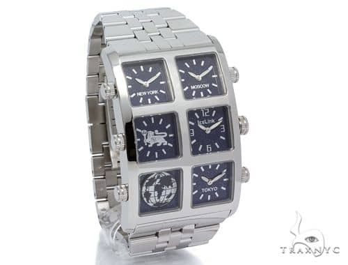 IceLink Luna 6TZ Mens Stainless Steel Watch 63976 IceLink Watches