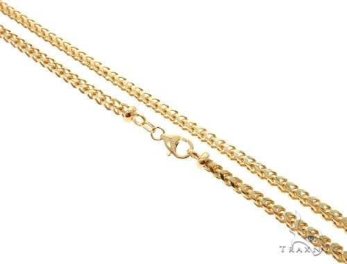 10K Yellow Gold Solid Franco Link Chain 28 Inches 4mm 42 Grams 63982 Gold