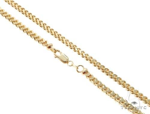 10K Yellow Gold Hollow Franco Link Chain 28 Inches 3.5mm 21.4 Grams 63988 Gold