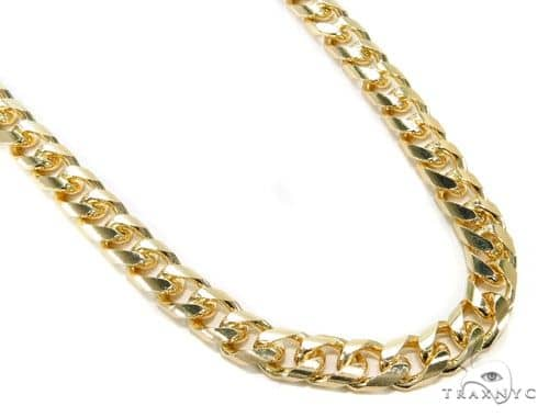 14K Yellow Gold Hollow Cuban Link Chain 26 Inches 9mm 67.9 Grams 63999 Gold