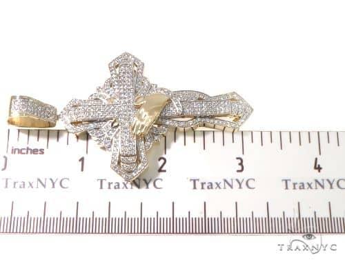 Custom TraxNYC Diamond Cross Crucifix with Praying Hands 64014 メンズ ダイヤモンド クロス