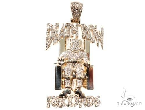 Custom Pave Diamond Death Row Records Charm Pendant 64147 ダイヤモンド チェーン