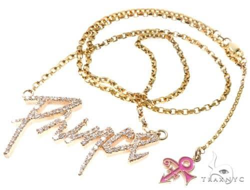 Custom Prong Diamond Prince Pendant With Cable LInk Chain