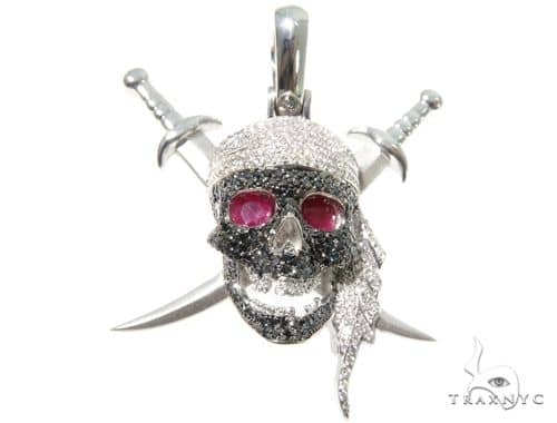 Custom Diamond Skull & Swords Pendant 64151
