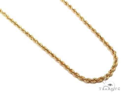 10k Yellow Gold Hollow Rope Link Chain 30 inches 3.2mm 7.3 Grams 64447 ゴールド チェーン