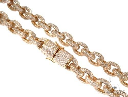 Diamond Cable Link Chain with Custom Lock ダイヤモンド チェーン